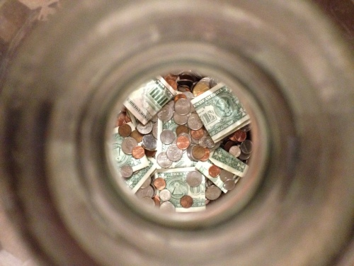 Inside our money jar